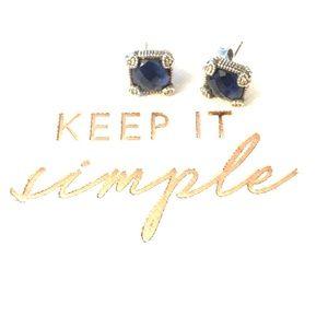 "Judith Ripka Jewelry - Judith Ripka synthetic sapphire ""estate"" earrings"